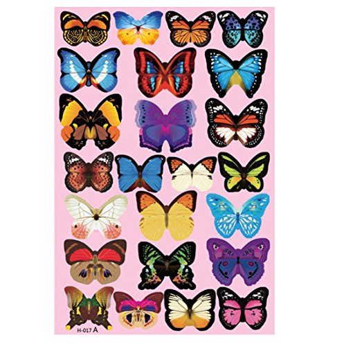A Set Of 24Pcs 3D DIY Wall Sticker,Woaills Butterfly Home Decor Room Decorations Decor (Multicolor)