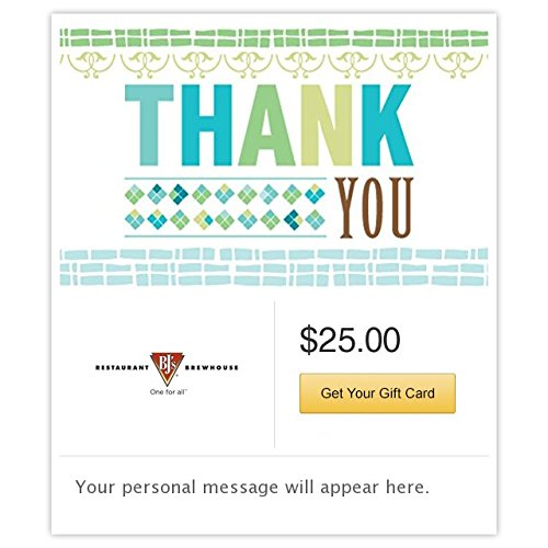 BJ's Restaurant & Brewhouse Thank you - Mod Pattern Gift Cards - E-mail Delivery