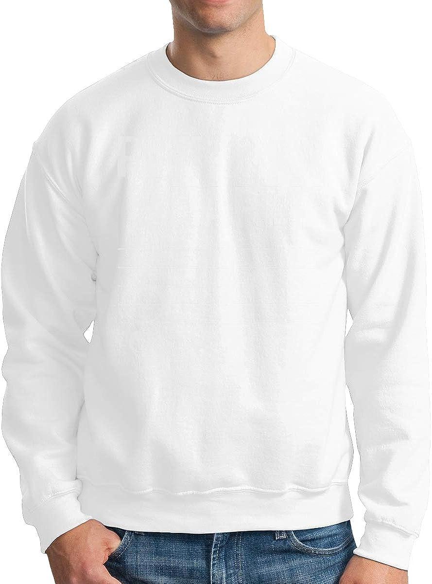 Donald Marjory Put On A Happy Face Musical Notes Print Mens Rib Cuffed Crewneck Fleece Athletic Pullover Crewneck Sweatshirt