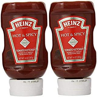 product image for Heinz Hot & Spicy Tomato Ketchup with Tabasco (Pack of 2) 14 oz Bottles