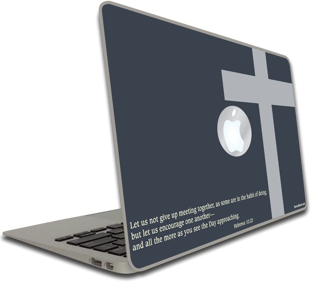 VictoryStore Electronic Device Vinyl Removable Skin Cover, Compatible with MacBook Air or Pro (13 inch) - Christian Theme - Hebrews 10:25