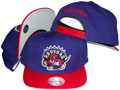 (Toronto Raptors Mitchell & Ness Purple Throwback Vintage Snap Back Hat)