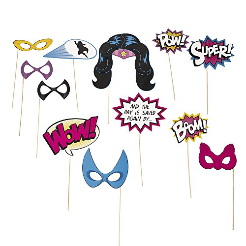 Superhero Photo Booth Stick Props