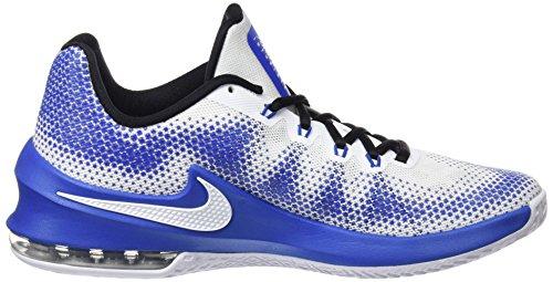 Nike Herren Air Max Infuriate Low Basketballschuhe Mehrfarbig (White/black/varsity Royal)