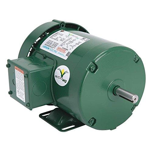 Leeson / Regal Beloit - 117760.00 - 1 HP General Purpose Farm Duty Motor, 3-Phase, 1760 Nameplate RPM, 230/460 Voltage, Frame 56
