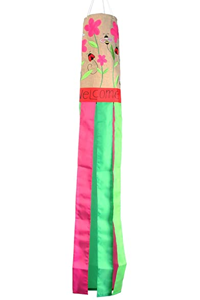Toland Home Garden 162506 Bees and Ladies Decorative Burlap Windsock, Multicolor
