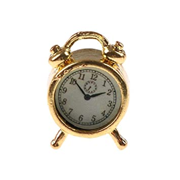 Amazon.com: Alarm Clocks for Bedrooms - Creative Alarm Clock Cute Mini Metal Small Alarm Clock Electronic Small Loud Alarm Clock despertador reloj ...