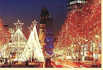 Weihnachtskarten Berlin.Weihnachtskarte Berlin Weihnachtsbeleuchtung An Der