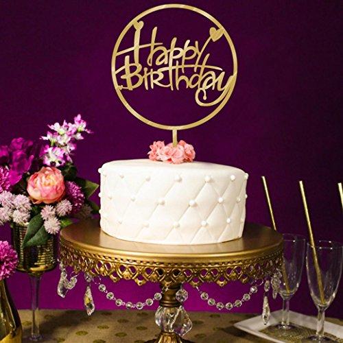 Home Decor, Rumas Fashion Birthday Cake Topper Insert Card 2018 Graduation Acrylic Cake Decoration (I)