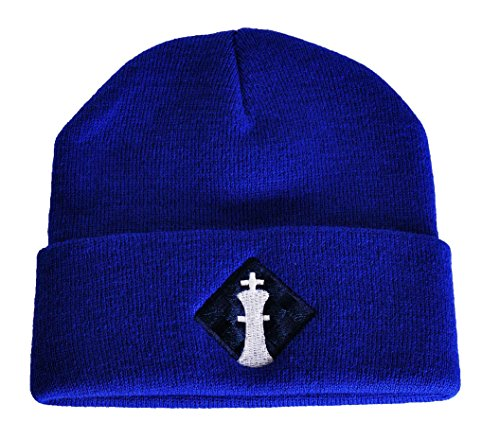 Uscf Logo Knit Cap   Blue   By Us Chess Federation