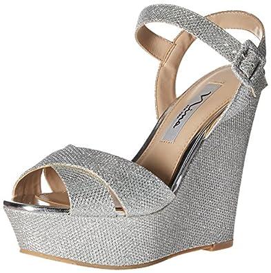 Amazon Com Nina Women S Jinjer Wedge Sandal Platforms