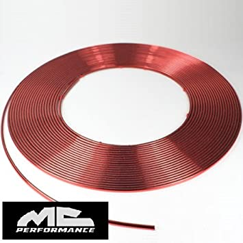 Moldura roja metalica 4mm x 15m autoadhesiva universal: Amazon.es: Coche y moto