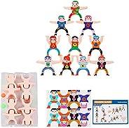 Wooden Stacking Blocks Balancing Game,Wooden Balance Stacking High Building Blocks Kids Educational Developmen