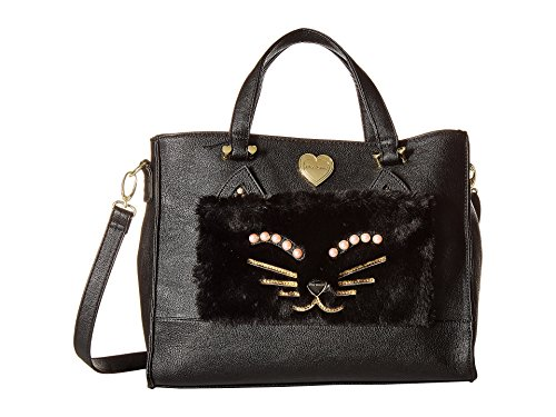 Johnson Evening Betsey (Betsey Johnson Women's Kitsch Tote with Pouch Black One Size)