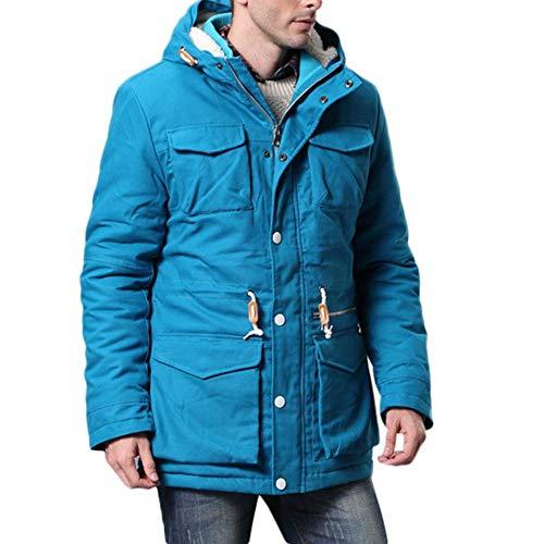 Shopping Per Cappotto Con Easy Casual Autunno A Spessa Uomo Cappuccio Lunghe Go Dark Da Blue Giacca Maniche In Cotone Inverno 5OxxR4Ew