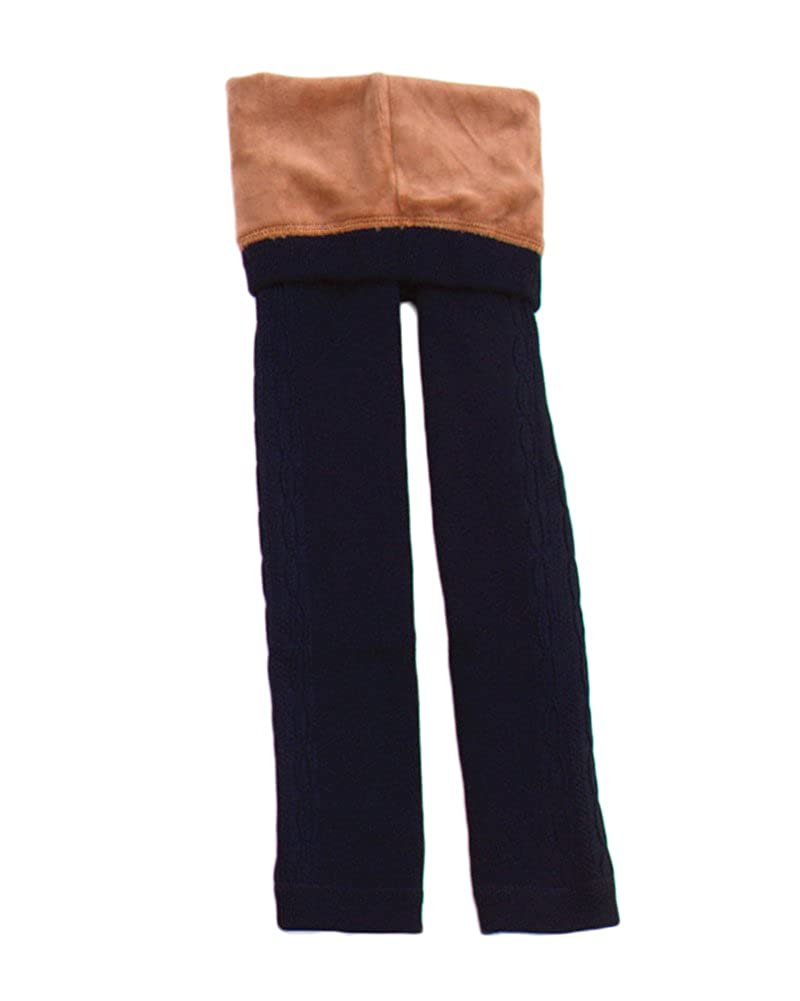Girls Full Length Warm Thermal Faux Fleece Lined Legging Stretch Pants