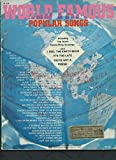 WORLD FAMOUS POPULAR SONGS (M-434) (Songbook) Piano/ Vocal/ Guitar 1971