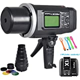 Godox AD600BM Bowens Mount 600Ws GN87 High Speed Sync Outdoor Flash Strobe Light Monolight with X1N Wireless Trigger &Conical Snoot (include Honeycomb Grid and Color Gels) for Nikon Camera
