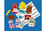 Excellerations THREEPIG Fairy Tales Felt Stories, Three Little Pigs (Pack of 11)