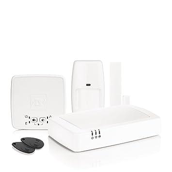 Honeywell HS922GPRS Sistema de Alarma IP inalámbrica gestionable de Remoto y GPRS, Color Blanco
