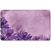 Memory Foam Bath Mat,Anemone Flower,Dreamlike Fantastic Composition with Anemone Magic Petals Blossoms DecorativePlush Wanderlust Bathroom Decor Mat Rug Carpet with Anti-Slip Backing,Magenta Lavender
