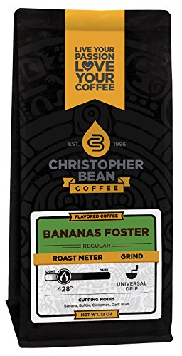 Bananas Foster, Flavored Whole Bean Coffee, 12-Ounce Bag