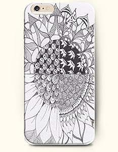SevenArc Phone Accessory New Apple iPhone 6 Plus case 5.5' -- Sunflower Zentangle