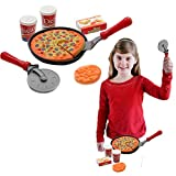 play dough costume - Toy Cubby Kids Toddler Pretend Play Pizza Party Cutting Food and Accessories Set