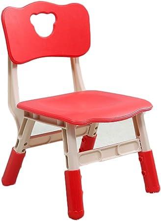 LIANGJUN Juegos De Mesa Y Sillas for Niño Respaldo Pequeño Banco Jardín De Infancia El Plastico Estable Ligero Portátil - Muebles for Niños, 6 Colores (Color : Red, Size : 37.5X33X58CM): Amazon.es: Hogar