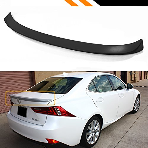 (Cuztom Tuning Fits for 2014-2019 Lexus IS250 IS350 IS200t 4 Door F Sport Style Rear Trunk Deck Lid Spoiler Wing )