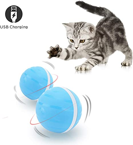 Juguete Interactivo para Mascotas, Carga USB Wicked Ball Giratoria ...
