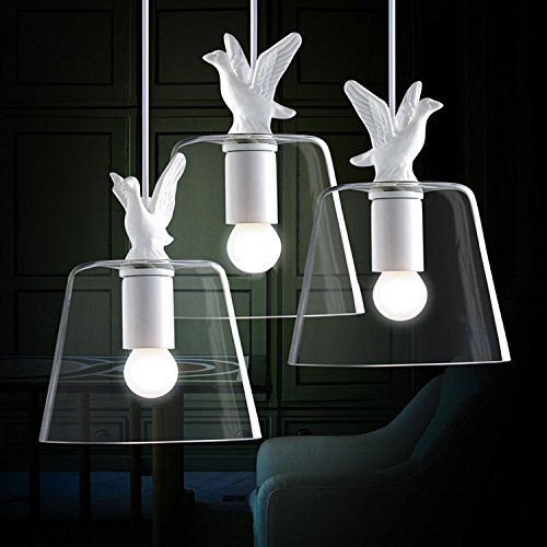 - CLG-FLY Modern Minimalist Restaurant And Bar Bar Glass Chandelier Chandelier White Bedroom Balcony Duck Head Factory Wholesale,Without Light,with best service