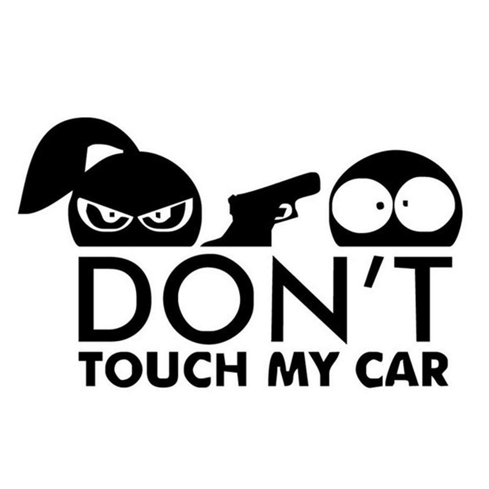 856store Funny Safety Warning Decor Car Sticker DON'T TOUCH MY CAR Shooting Styling Decal