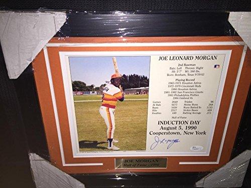 Joe Morgan Autographed Signed 8x10 Photo JSA Coa 13X16 Framed Houston Astros Autograph (Joe Morgan Astros)