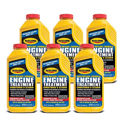 Rislone 4102-6PK Engine Treatment Specially Formulated for High-Mileage Engines - 16.9 oz, (Pack of 6)