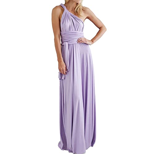 Comeon Evening Dress Maxi Dress Multi-Way Wrap Halter Maxi Floor Long Dress High Elasticity Prom Dre...