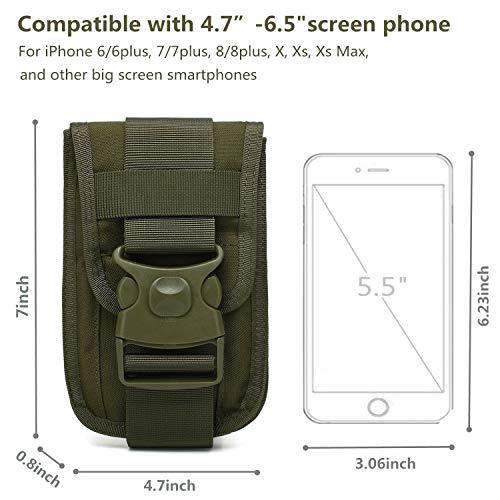 25c684e31f58 TotaPack Tactical Molle Pouch Utility Belt Waist Bag Cellphone Holster  Tactical Waist Pack Bag Belt Pouch Phone Pouch Pocket Gadget Pouch for Men  ...