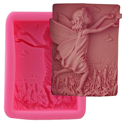Let's DIY Flower Fairy with Butterflies 3D Silicone Non-Stick Soap Moulds Candle Mold