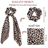 TOBATOBA 6 Pack Leopard Print Big Scrunchies for