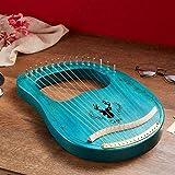 Lyre Harp 16 Strings Instrument Mahogany Wood Elk