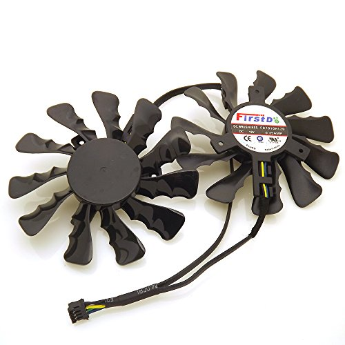 Replacement Video Card Cooling Fan For HIS HD7950 HD7970 R9-280X R9-290 R9-390 Graphics Card Cooling Fan FD7010H12D DC 12V 0.35A 86mm 4 Pin by Tebuyus