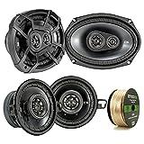 900 watt amp kicker - 2 Pair Car Speaker Package Of 2x Kicker CSC354 180-Watt 3.5