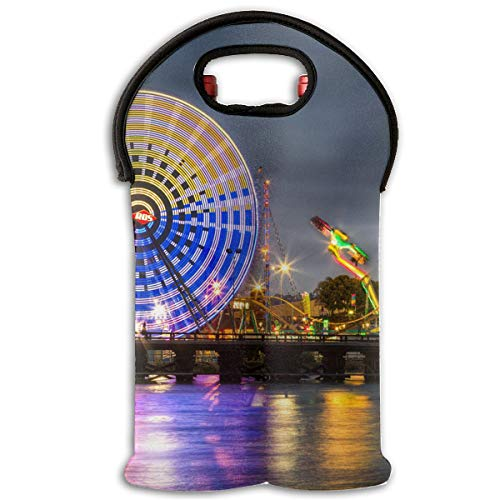 YYH Wine Tote Carrier Bag San Diego County Fair Purse for Champagne,Water Bottles