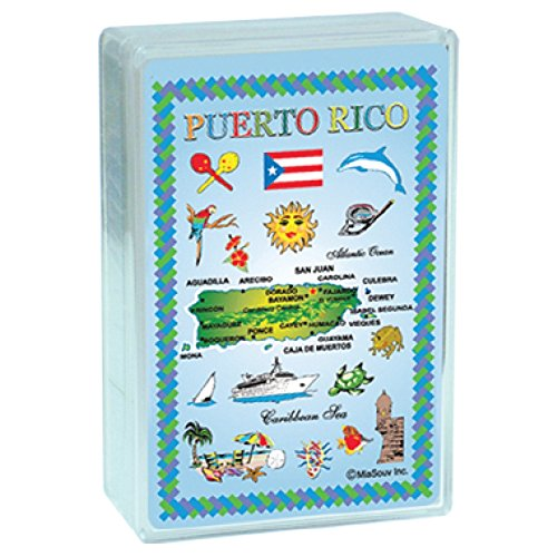 Rockin Gear Playing Cards Puerto Rico Map Collectible Souvenir Index Playing Cards (Puerto Rico Casino)