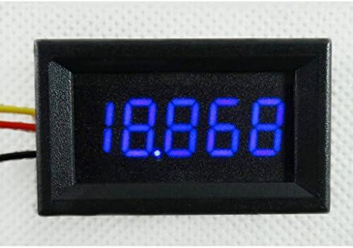 Green 48x 29x 22mm MonkeyJack 0.36 5 Digit DC 0-33.000V Digital Voltmeter LED Display Panel 3 Wires Voltage Meter High Accuracy Volt Monitor Testing Panel Gauge for Car Automotive Vehicle