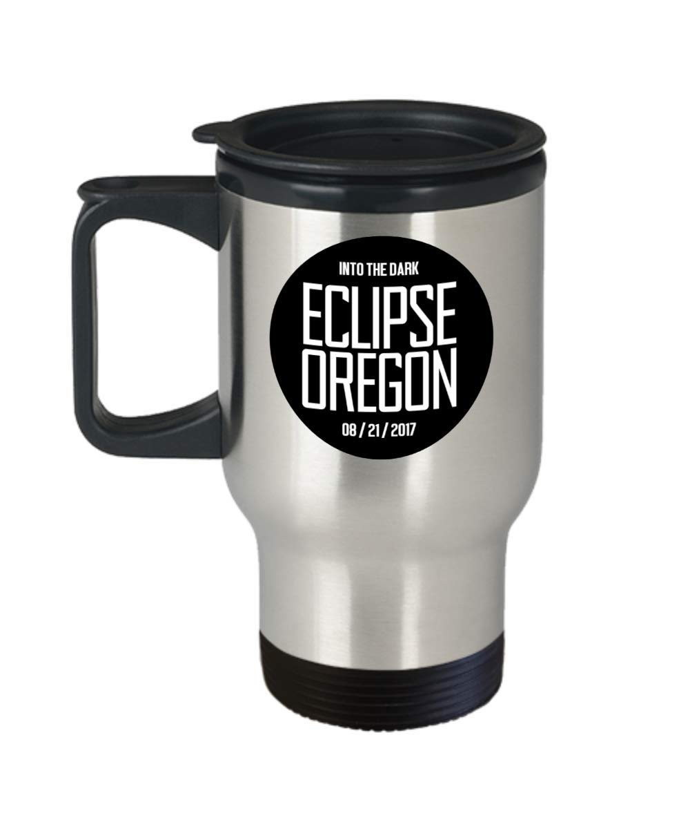 Funny Gift for Oregon - Into The Dark Eclipse Oregon Astronomers, Space Enthusiasts, Solar Eclipse Chasers, Eclipse Enthusiasts, Oregon Travel Coffee