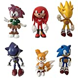 6PCS Sonic The Hedgehog Action Figure Characters Toys Gift