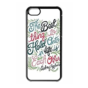 Audrey Hepburn Quote Brand New Cover Case with Hard Shell Protection for Iphone 5C Case lxa#904858