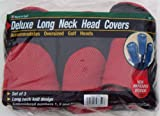 Deluxe Long Neck Head Covers, RED/BLACK: Set of 3, Outdoor Stuffs