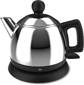 DCIGNA Electric Tea Kettle, 1L Stainless Steel Travel Kettle, Portable Hot Water Kettle, Auto Shut-off & Fast Boiling, Dry Protection, Suitable For Coffee, Tea, 1000W